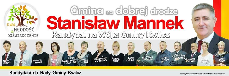 Gmina Kwilcz kandydaci - wybory samorządowe 2014 rok