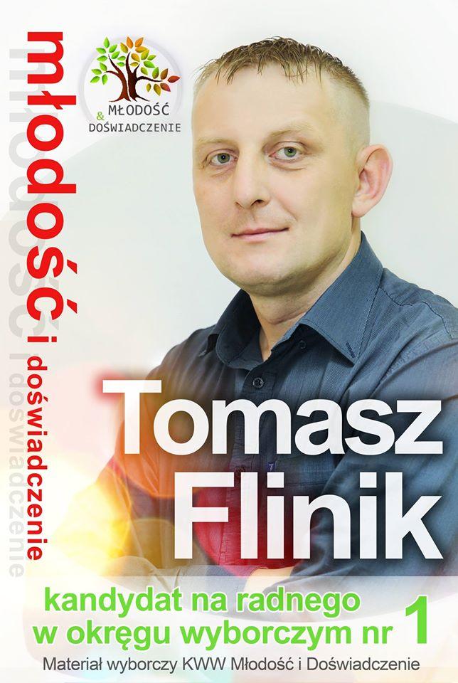 Tomasz Flinik kandydat do Rady Gminy Kwilcz - wybory samorządowe 2014